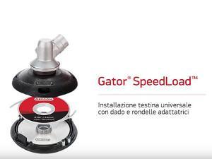 Oregon Gator SpeedLoad - Installazione testina universale con vite e rondella adattatrice