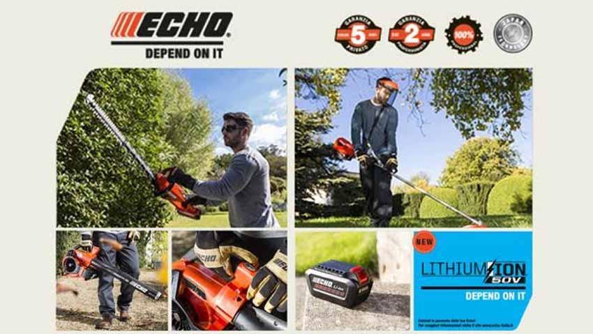 Nuova gamma a batteria Echo da 50V