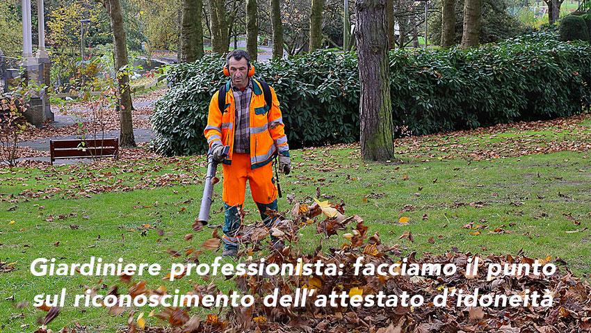 Professione giardiniere, la parola è alle regioni