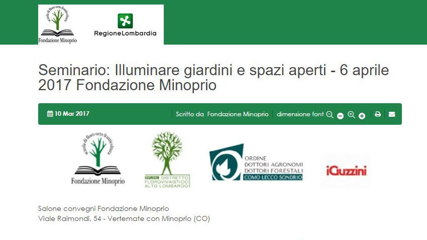 Illuminare i giardini: seminario per professionisti