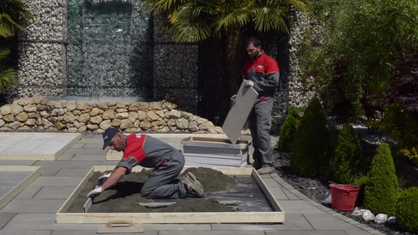 Come posare il pavimento con sabbia e cemento