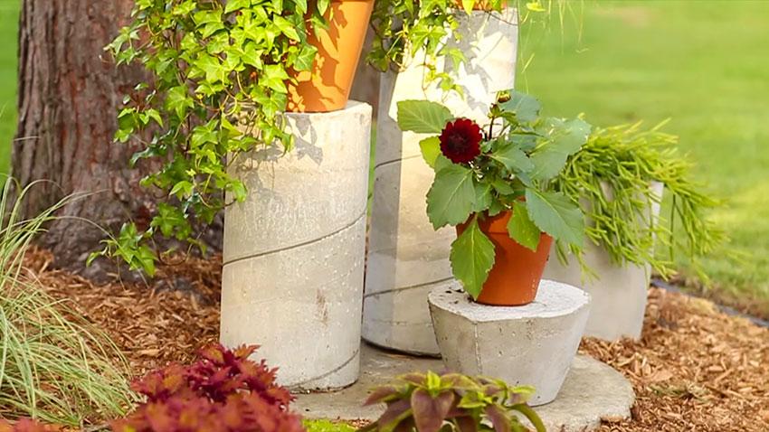 Ornamenti da giardino fai da te in calcestruzzo