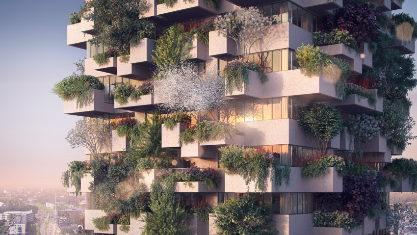 Verde urbano, il primo bosco verticale in social housing