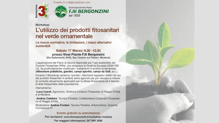 Workshop sull'uso dei fitosanitari nel verde ornamentale