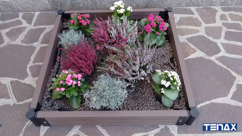 Bordura modulare in WPC Tenax Flower Bed