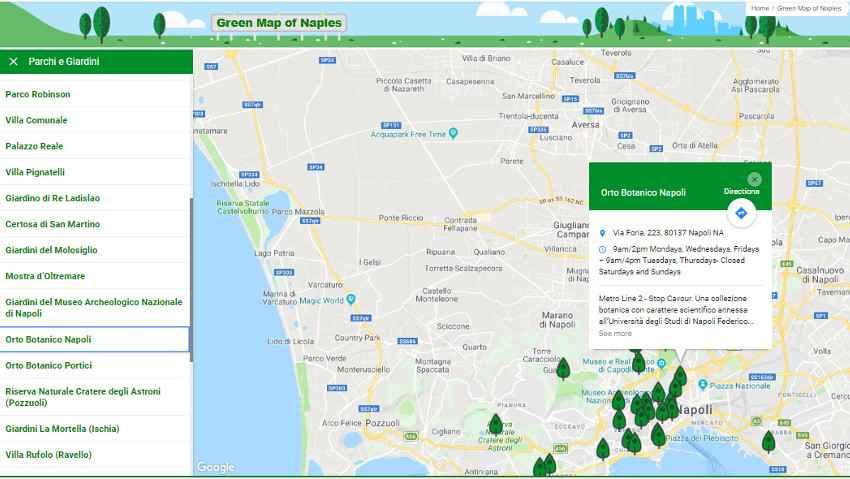 Alla scoperta del verde urbano con una mappa gratuita