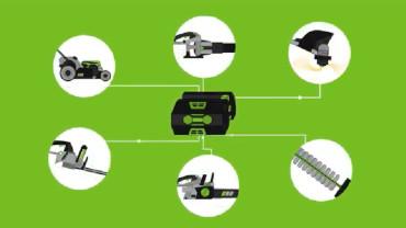 Come funziona la batteria al litio Ego Power + per attrezzi da giardino