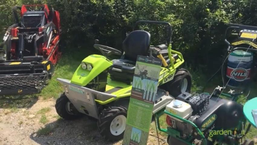 Trade Show: prova di attrezzature per il giardino