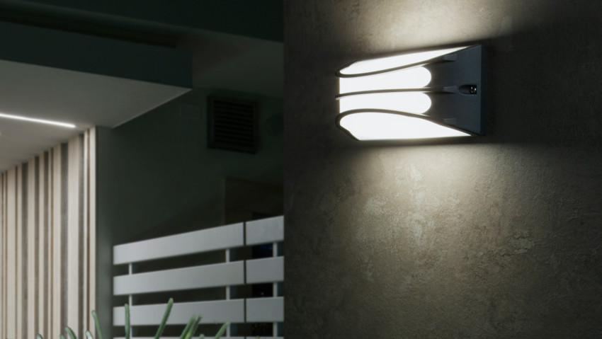 Lampada a led per esterno personalizzabile