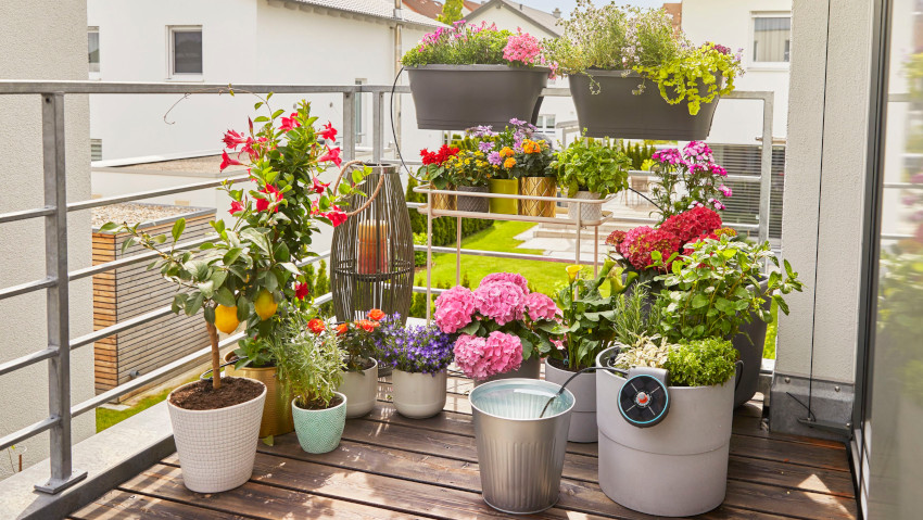 Irrigare facilmente terrazzi e balconi