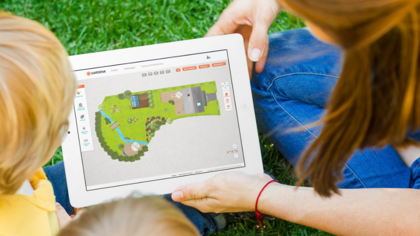 Progettare online il giardino e l'irrigazione