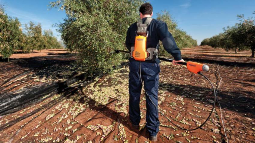 Abbacchiatore a batteria per raccolta professionale delle olive