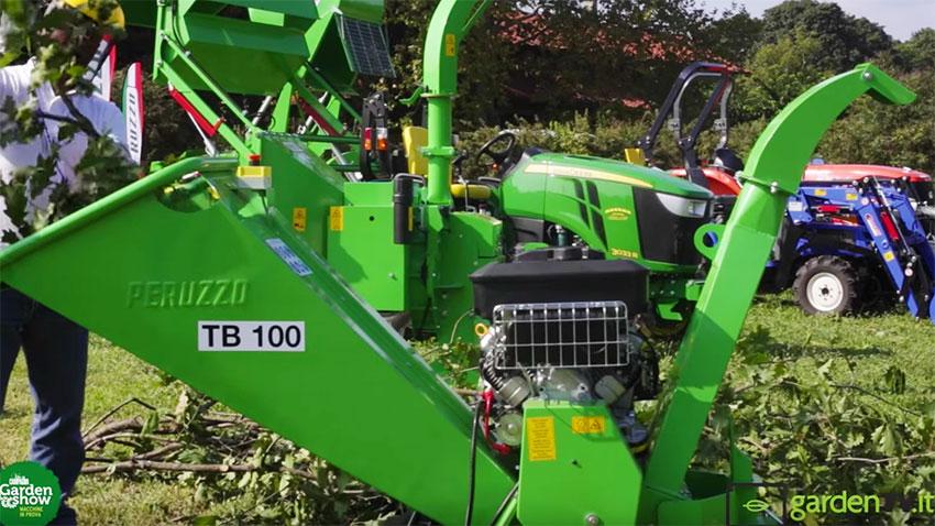 Peruzzo: il trituratore e aspirafoglie TB100