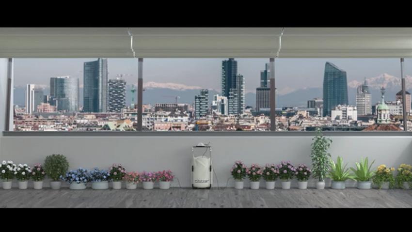 Irrigazione a goccia senza rubinetto a energia solare