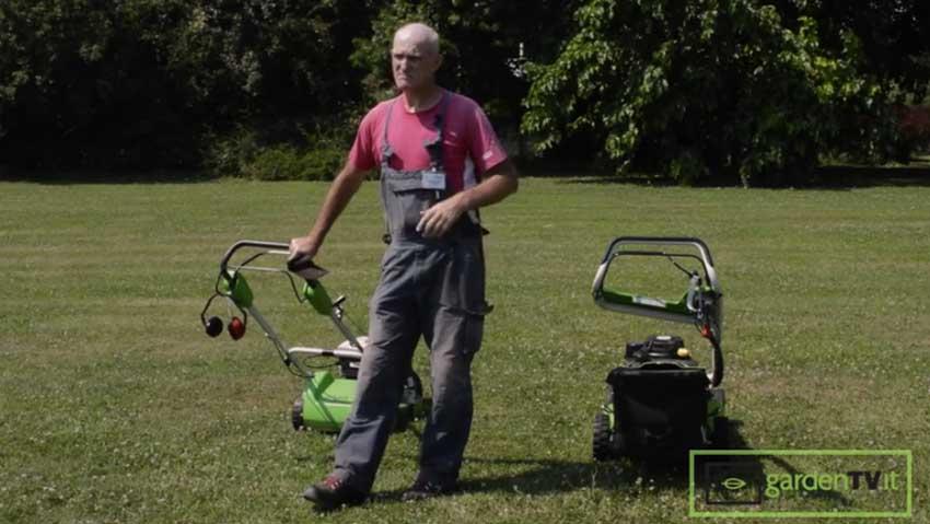 Rasaerba con taglio con raccolta vs mulching
