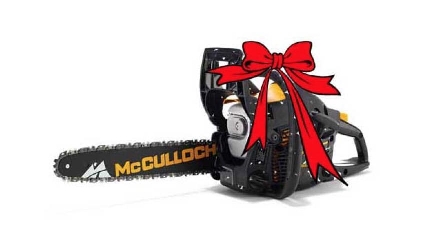 Per Natale regala una motosega McCulloch