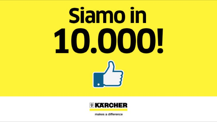 Kärcher, 10.000 like per il profilo social