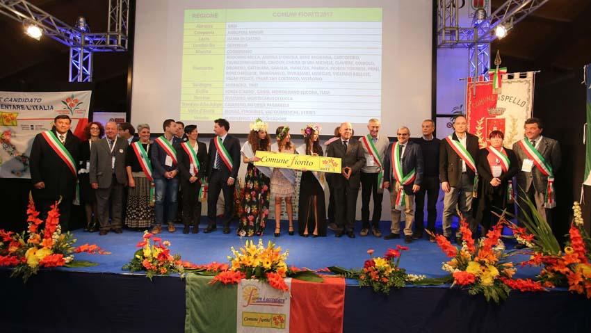 premiazione Comuni Fioriti 2017
