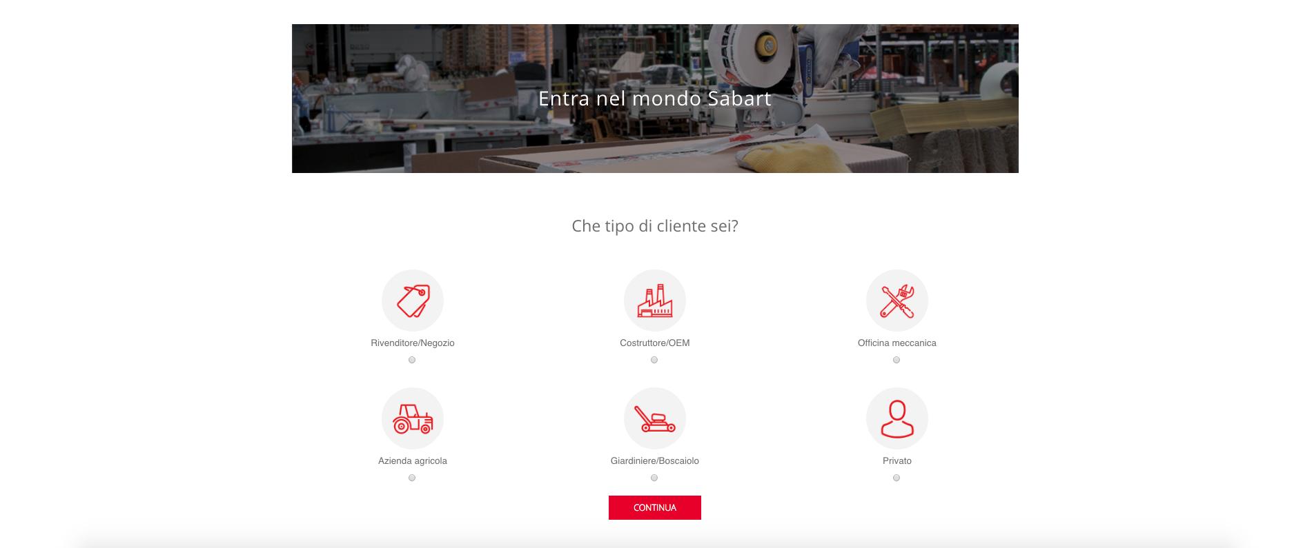 Nuovo sito Sabart